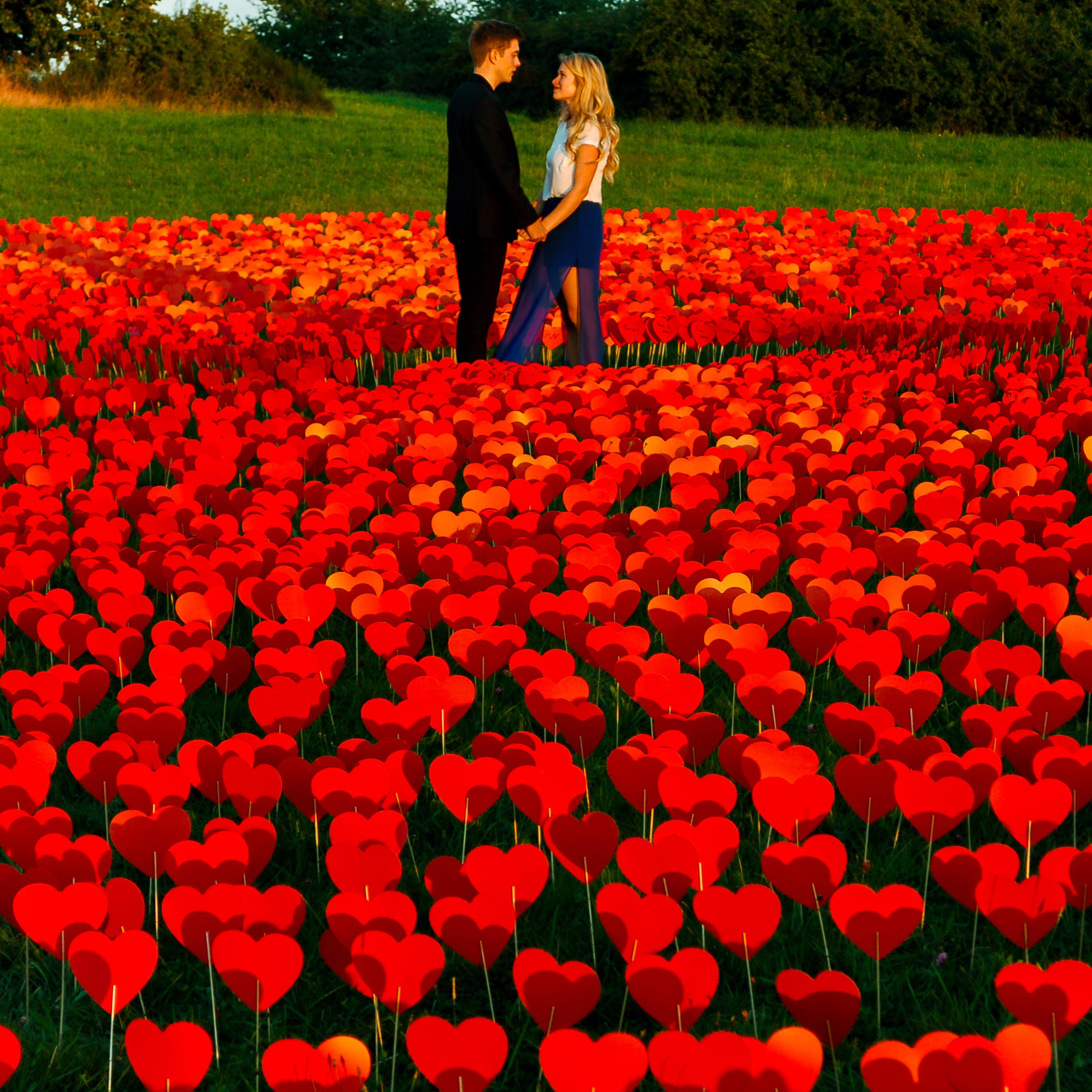 Verlobung 10000 Herzen